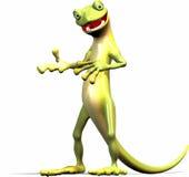förklarar geckoen stock illustrationer