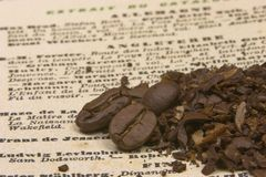 förklarat kaffe arkivbild