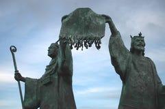 Förklaring av den Arbroath statyn Arkivfoton