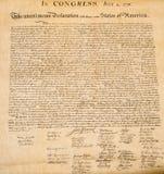 Förklaring av det självständighet4th juli 1776 slutet upp Royaltyfri Fotografi