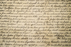 Förklaring av det självständighet4th juli 1776 slutet upp Arkivfoton