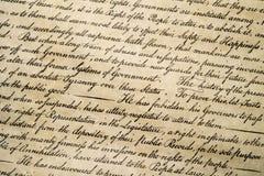 Förklaring av det självständighet4th juli 1776 slutet upp Arkivfoto