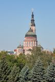 Förklaringdomkyrka i Kharkiv, Ukraina Arkivbilder