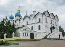 Förklaringdomkyrkan av den Kazan Kreml är den första ortodoxa kyrkan av den Kazan Kreml arkivfoton