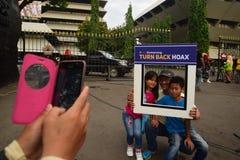 Förklaringen av Anti--lurar Fotografering för Bildbyråer