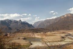 Rio Fuerte i förkopprakanjonen Arkivbilder