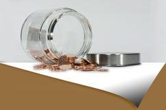 Förkoppra myntar Arkivbild