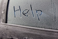 Förkylning med snow Royaltyfri Fotografi