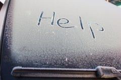 Förkylning med snow Fotografering för Bildbyråer