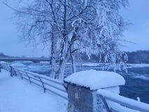 Förkylning på Niagara Fotografering för Bildbyråer