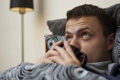 förkylninginfluensa Royaltyfri Fotografi