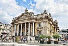 Förlägga de la Börs eller Beursplein i Bryssel, Belgien Arkivbild