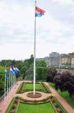 Förlägga de la Konstitution i staden av Luxembourg Royaltyfria Bilder