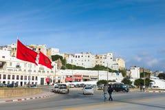 Förlägga de-laMarche Verte, Tangier, Marocko Arkivbilder