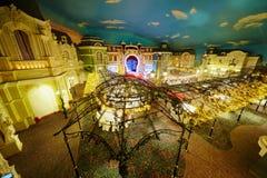 Förlägga den de Paris bankettkorridoren på det Korston hotellet Moscow Arkivbilder