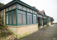 Förlägga för att dölja nära den Birnbeck pir, Weston Super Mare royaltyfria bilder