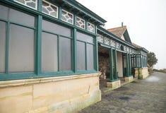 Förlägga för att dölja nära den Birnbeck pir, Weston Super Mare fotografering för bildbyråer
