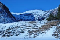Förlägga i barack i bergen i vinter, Österrike, Europa Fotografering för Bildbyråer