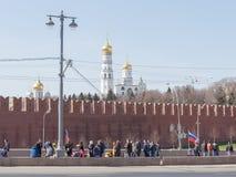 Förlägga mordet av Boris Nemtsov Arkivfoton
