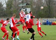Fotbollhandling Arkivbilder