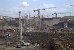 Förlängning II för Panama kanal fotografering för bildbyråer