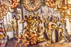 Förlöjliga Jesus Fresco Sanctuary av Jesus Atotonilco Mexico Royaltyfri Fotografi