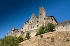 förlaga för carcassonne slottcit Europa france Europa Royaltyfri Foto