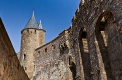 förlaga för carcassonne slottcit Europa france Europa Arkivfoton