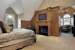Förlagapn sovrum med spis Royaltyfria Foton