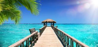 Förlageskeppsdocka för det tropiska paradiset Royaltyfri Bild