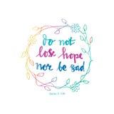 Förlora inte hopp eller var ledsen royaltyfri illustrationer