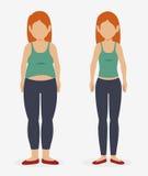 Förlora viktdesignen royaltyfri illustrationer