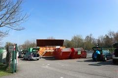Förlorad återvinningmitt för hushåll i Karlsruhe, Tyskland, mars 25 2017 Fotografering för Bildbyråer