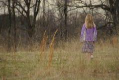 förlorad flicka Arkivbild