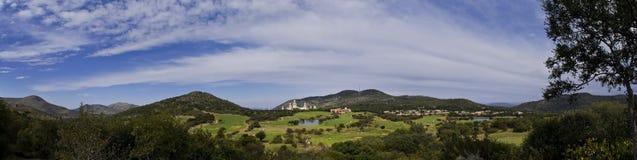 förlorad sun för stadskurs golf Royaltyfria Foton
