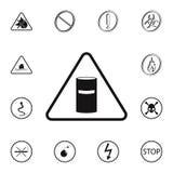 förlorad teckensymbol för kemikalie Detaljerad uppsättning av symboler för varningstecken Högvärdigt kvalitets- tecken för grafis royaltyfri illustrationer