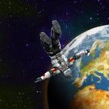förlorat avstånd för astronaut hjälte Arkivbild