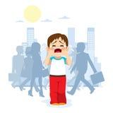 förlorat barn royaltyfri illustrationer