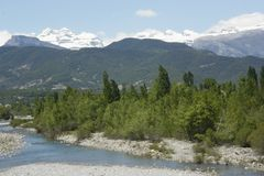 förlorat berg pyrenees Fotografering för Bildbyråer