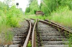 förlorat järnväg rostigt strömbrytaredrev royaltyfri fotografi
