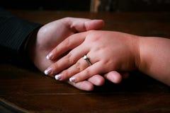förlovningsring royaltyfri foto