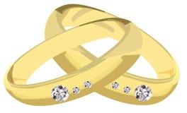 Förlovningsringar stock illustrationer