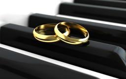 Förlovningsringar royaltyfri illustrationer