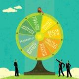 Förmögenhethjul royaltyfri illustrationer