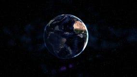 Förmörkelse och jord i utrymmet abstrakt konstbakgrund Astronomi- och vetenskapsbegrepp Beståndsdelar av denna avbildar möblerat  Arkivfoton