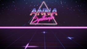 förnamn Anna i synthwavestil vektor illustrationer