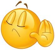 Förneka emoticonen royaltyfri illustrationer