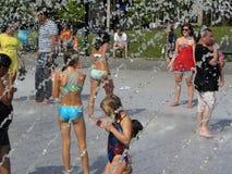 förnyande vatten för springbrunn Royaltyfria Foton