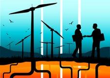 förnybar affärsenergi stock illustrationer