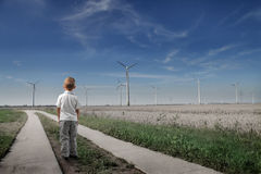 förnybar energi royaltyfri fotografi